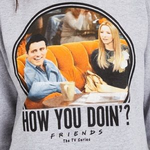 Friends How you Doin? Long Sleeve Graphic Tee. NWT